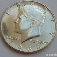 Monedas antiguas de América: MONEDA DE PLATA DE 1/2 DOLAR DE 1964 KENNEDY CECA FILADELFIA, ESTADOS UNIDOS, EBC+. Lote 127883975