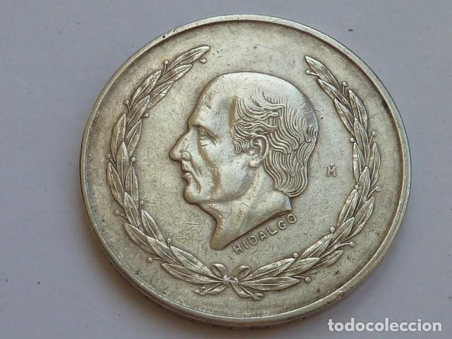 MONEDA DE PLATA DE 5 PESOS DE MEXICO DE 1952, HIDALGO CABEZA PEQUEÑA, PESA 27,9 GRAMOS (Numismática - Extranjeras - América)