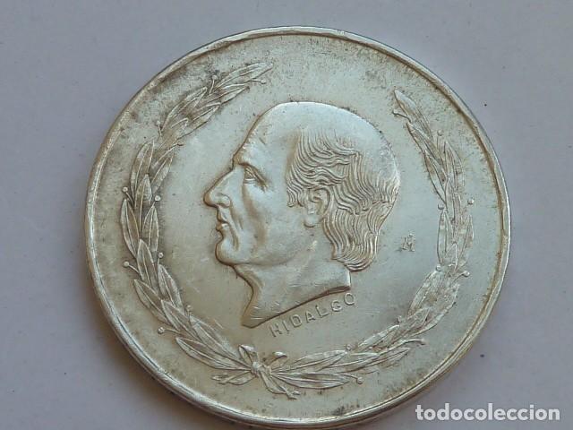MONEDA DE PLATA DE 5 PESOS DE MEXICO DE 1953, HIDALGO CABEZA PEQUEÑA, PESA 27,9 GRAMOS (Numismática - Extranjeras - América)