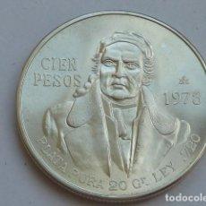 Monedas antiguas de América: MONEDA DE PLATA DE 100 PESOS DE MEXICO DE 1978, PESA 27,8 GRAMOS, S/C. Lote 127884731