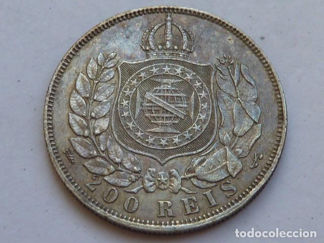 Monedas antiguas de América: MONEDA DE PLATA DE 200 reis de Brasil de 1867 de Petrus II - Foto 2 - 127947799