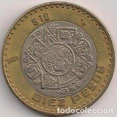 Monnaies anciennes d'Amérique: MÉXICO - 10 PESOS 2005 - KM#616. Lote 128338919