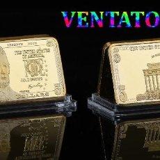 Monedas antiguas de América: ESTADOS UNIDOS LINGOTE 5 DOLARES ORO DE 24 KILATES 42 GRAMOS( LINCOLN - PRESIDENTE DE 1861 A 1865)N2. Lote 152204016