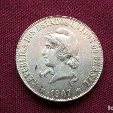 Monedas antiguas de América: BRASIL. 2000 REIS DE PLATA DE 1907. Lote 128343995