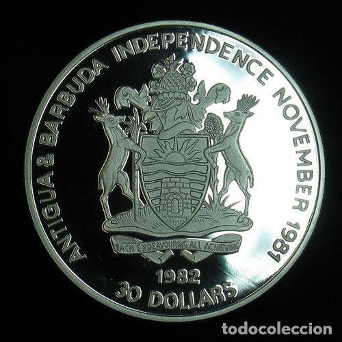 Monedas antiguas de América: ANTIGUA & BARBUDA 30 DOLARES - VERPLACK`S POINT 1790 - Foto 2 - 128345843