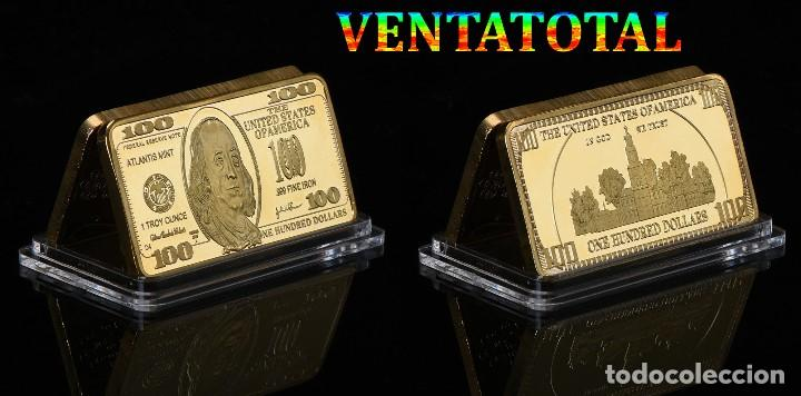 LINGOTE 100 DOLARES ORO DE 24 KILAT 46 GRAMOS(FRANKLIN - PRESIDENTE DE 1785 A 1788 ESTADOS UNI)N12 (Numismática - Extranjeras - América)