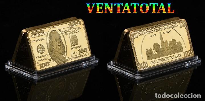 LINGOTE 100 DOLARES ORO DE 24 KILAT 43 GRAMOS(FRANKLIN - PRESIDENTE DE 1785 A 1788 ESTADOS UNI)N2 (Numismática - Extranjeras - América)