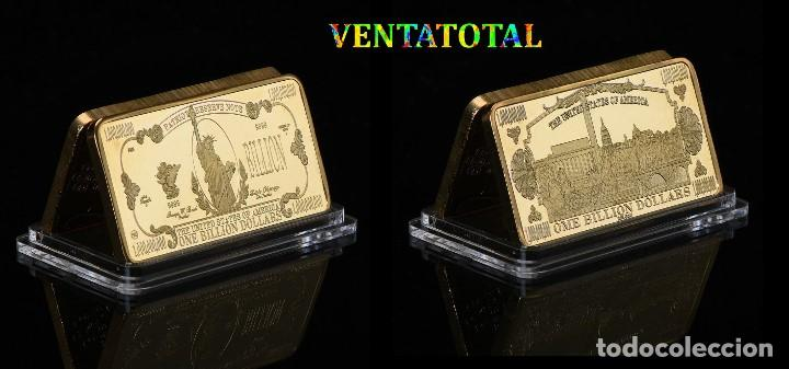 ESTADOS UNIDOS LINGOTE 1 BILLON DE DOLARES ORO DE 24 KILATES 41 GRAMOS( ESTATUA DE LA LIBERTAD ) Nº2 (Numismática - Extranjeras - América)