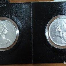 Monedas antiguas de América: CANADA - DOS MONEDAS DE VEINTICINCO CENTAVOS (25 CENTIMOS) AÑO 1968 - KM62B - BIEN CONSERVADAS. Lote 128386831