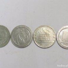 Monedas antiguas de América: 4 MONEDAS DE CASINOS DE LAS VEGAS. Lote 128724027