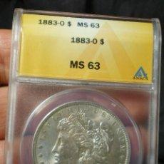 Monedas antiguas de América: DOLAR MORGAN AÑO 1883 - NUEVA ORLEANS - ( ESTADOS UNIDOS ) S.C. CERTIFICADA - PLATA. Lote 128915971