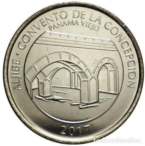 PANAMA 1/2 BALBOA 2017 CONJUNTO MONUMENTAL DE PANAMA VIEJO ( ALJIBE ) (Numismática - Extranjeras - América)