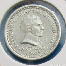 Monedas antiguas de América: URUGUAY. MONEDA DE 2 CENTÉSIMOS. 1953.. Lote 129618891