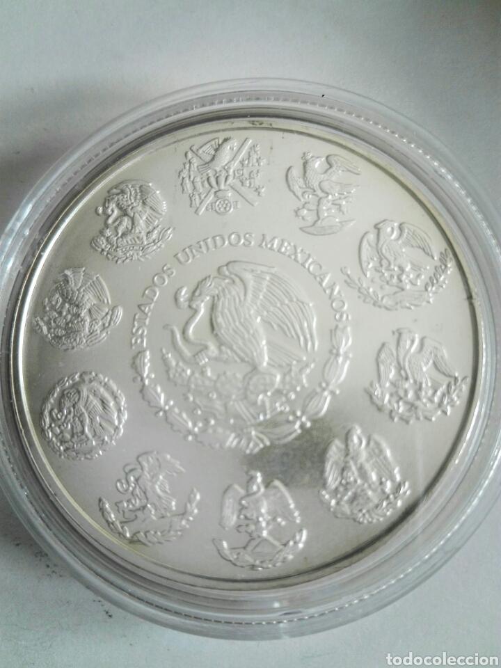 Monedas antiguas de América: MONEDA DE ONZA DE MÉJICO DE 2010. PLATA. SIN CIRCULAR. ENCAPSULADA - Foto 2 - 129992044