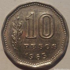Monedas antiguas de América: ARGENTINA 10 PESOS 1963. Lote 130216172