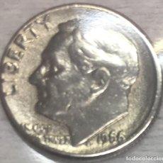 Monedas antiguas de América: USA/EE.UU - UNA MONEDA DE DIEZ (10) CENTAVOS (ONE DIME) - AÑO 1966 - KM.195A - **ERROR**. Lote 130890904