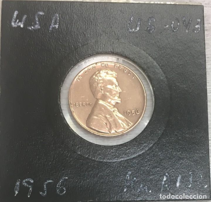Monedas antiguas de América: USA/EE.UU - UNA MONEDA DE UN CENTAVO (ONE CENT) - AÑO 1956 - Km.A132 - MUY BIEN CONSERVADA - Foto 2 - 142888876