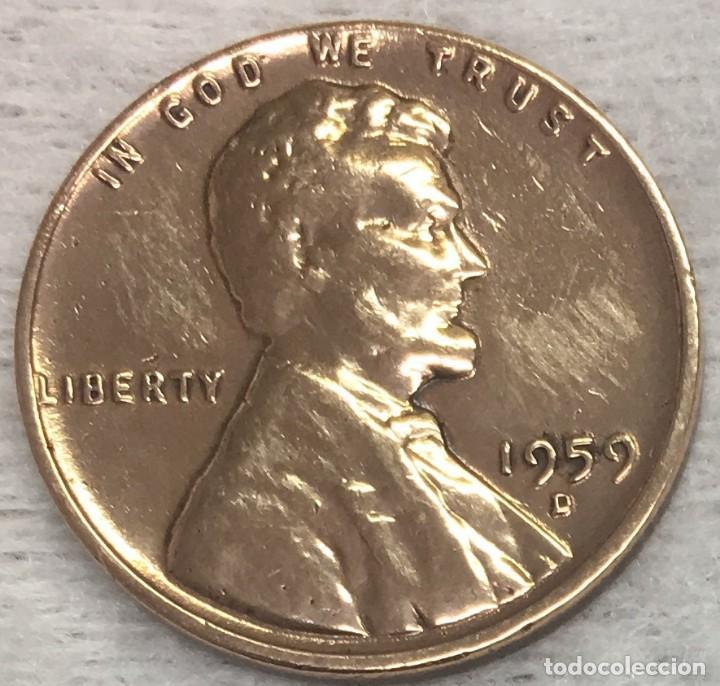 USA/EE.UU - UNA MONEDA DE UN CENTAVO (ONE CENT) - AÑO 1959 - KM.201 - CECA D - MUY BIEN CONSERVADA (Numismática - Extranjeras - América)