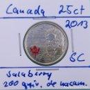 Monedas antiguas de América: CANADÁ - 25 CENTS 2013 - SALABERRY, POLÍTICO Y SOLDADO - ENCARTONADA - 200 ANV. DE NACIMIENTO. Lote 131044764