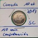 Monedas antiguas de América: CANADÁ - 10 CENTS 2017 - 150 AÑIV. CONFEDERCIÓN DE CANADÁ - ENCARTONADA DE CARTUCHO ORIGINAL. Lote 131045064