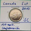 Monedas antiguas de América: CANADÁ - 5 CENTS 2017 - 150 AÑIV. CONFEDERCIÓN DE CANADÁ - ENCARTONADA DE CARTUCHO ORIGINAL. Lote 131045432