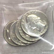 Monedas antiguas de América: USA-EE.UU - CINCO MONEDAS DE ONE QUARTER (25 CENTAVOS) AÑO 1965 - KM.164A - CONSERVADAS. Lote 131058068