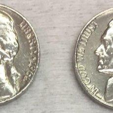 Monedas antiguas de América: USA-EE.UU - DOS MONEDAS DE CINCO CENTAVOS (FIVE CENTS-NICKLE) AÑO 1962 - KM.A192 - CONSERVADAS. Lote 131770642