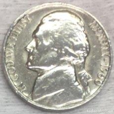 Monedas antiguas de América: USA-EE.UU - UNA MONEDA DE CINCO CENTAVOS (FIVE CENTS-NICKLE) AÑO 1960 - KM.A192 - CONSERVADA. Lote 131770870