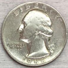 Monedas antiguas de América: USA-EE.UU - UNA MONEDA DE VEINTICINCO CENTAVOS (25 CENTS-QUARTER) AÑO 1966 - KM.A164A - CONSERVADA. Lote 131782122