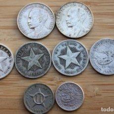 Monedas antiguas de América: LOTE DE 8 MONEDAS DE CUBA. PLATA. Lote 131793994
