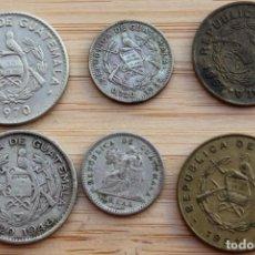 Monedas antiguas de América: GUATEMALA. LOTE DE 6 MONEDAS. Lote 131923602