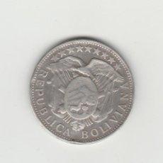 Monedas antiguas de América: BOLIVIA- 50 CENTAVOS - 1/2 BOLIVIANO-1901-PLATA. Lote 132288286