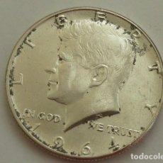 Monedas antiguas de América: MONEDA DE PLATA DE MEDIO DOLAR AMERICANO DE 1964, CECA FILADELFIA, ESTADOS UNIDOS. Lote 132318438