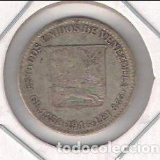 Monedas antiguas de América: MONEDA DE 1/4 (CUARTO) BOLÍVAR DE VENEZUELA DE 1946. PLATA. MBC. (ME1041). Lote 133138054