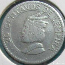 Monedas antiguas de América: HONDURAS. MONEDA DE 20 CENTAVOS. 1967.. Lote 133808330