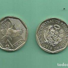 Monedas antiguas de América: PERU: 1 SOL 2018. PAVA ALIBLANCA. Lote 186044032