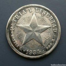 Monedas antiguas de América: CUBA 1934 UN PESO DE PLATA 1. Lote 133883077