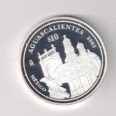 Monedas antiguas de América: MONEDA EN BLISTER Y ENCAPSULADA DE 10 PESOS DE MÉJICO 2005 CONMEMORATIVA A AGUASCALIENTES. (ME1971). Lote 133925262
