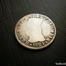 Monedas antiguas de América: COLOMBIA ( CUNDINAMARCA ) 2 REALES 1821 PLATA. Lote 134014214