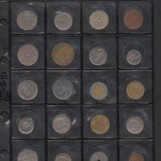 Monedas antiguas de América: COLECCIÓN 92 MONEDAS DE 51 PAÍSES, 5 CONTIMENTES, TODAS DIFERENTES . Lote 134377190