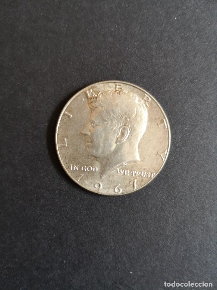 USA MEDIO DÓLAR DE PLATA 1967 KENNEDY MUY BONITO (Numismática - Extranjeras - América)