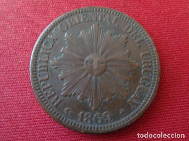URUGUAY. 4 CENTESIMOS 1869 (Numismática - Extranjeras - América)