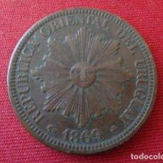 Monedas antiguas de América: URUGUAY. 4 CENTESIMOS 1869. Lote 135199058