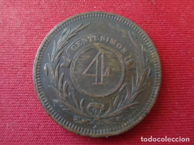 Monedas antiguas de América: URUGUAY. 4 CENTESIMOS 1869 - Foto 2 - 135199058