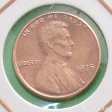 Monedas antiguas de América: USA. MONEDA DE 1 CENT. 1975.. Lote 135328410