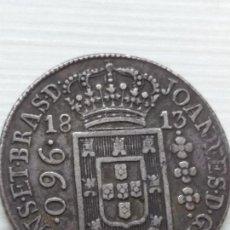 Monedas antiguas de América: RARA Y ESCASA MONEDA 960 REIS BRASIL COLONIA PORTUGUESA 1813, PRECIOSA. Lote 135761726