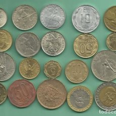 Monedas antiguas de América: CHILE: 20 MONEDAS DE 20 MODELOS DIFERENTES. Lote 143149278
