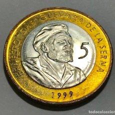 Monedas antiguas de América: 1999 CINCO PESOS CONVERTIBLES SIN USO CHE GUEVARA . Lote 136527206