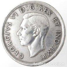 Monedas antiguas de América: CANADA DOLAR (DOLLAR) PLATA 1939 GEORGE VI VISITA REAL ESCASA. Lote 49862471
