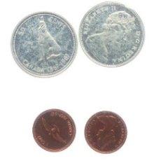 Monedas antiguas de América: CANADA SERIE 6 MONEDAS (4 DE PLATA) 1967 CENTENARIO DE LA CONFEDERACION. Lote 93028167